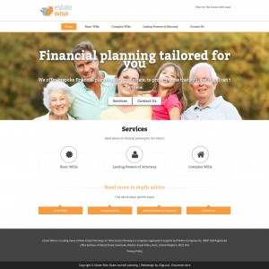 Brochure website for Stroud Financial services company