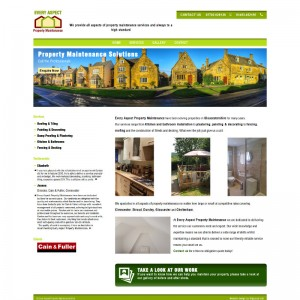 A fast brochure website for a Stroud based Property Maintenanc company