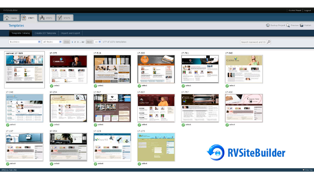 Build your own website with RVSiteBuilder