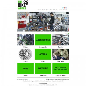 A Pseudo-shop created for a local Bike shop to show off their products and services