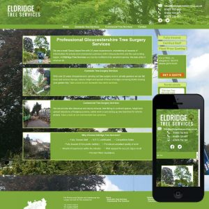 Brochure website designed for a Stroud based tree services company