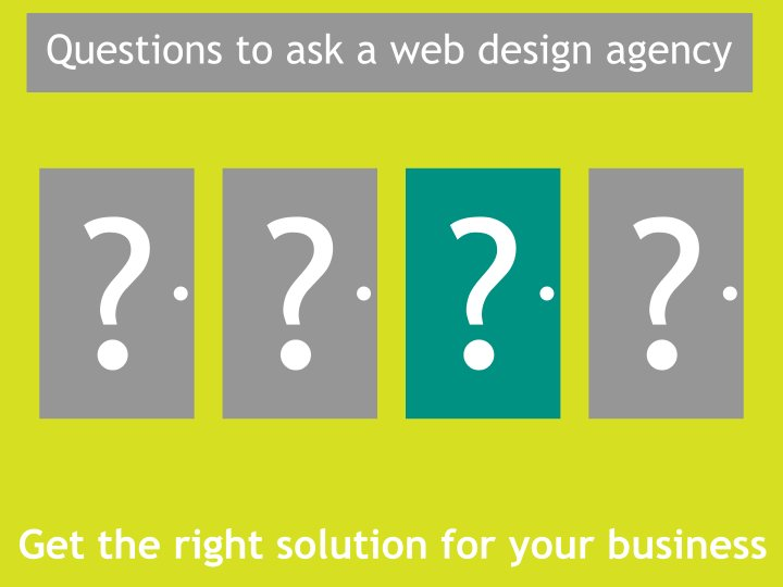 Questions to ask before hiring a web design agency