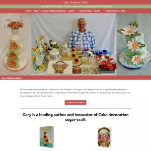 Simple wordpress blog and brochure website for Stroud based cake designer