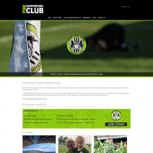 Brochure website that features a custom membership sign up form