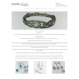 Strouds Jewellery Shop, a simple brochure website to show off what they have in store