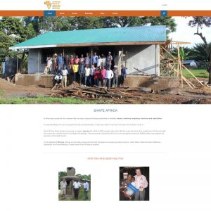 Gloucestershire Charity wordpress website for SHAPE Africa