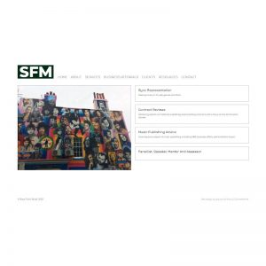 Modern brochure website for London Based Music licensing consultant
