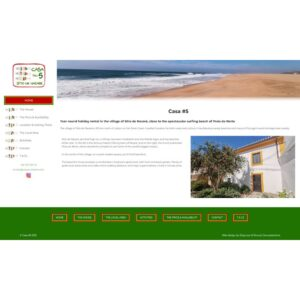 Simple WordPress Web design for a rental holiday cottage in portugal